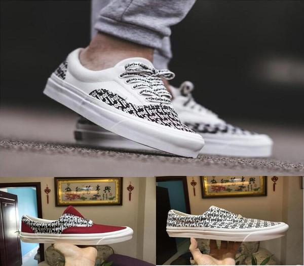 1247da15 Fear of God men women Canvas shoes Fog 2018 Casual Shoes sports Sneaker old  skool x