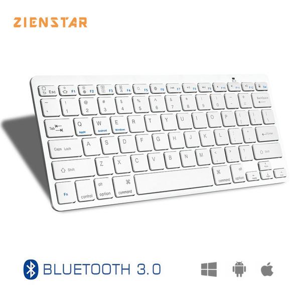 Zienstar Ultra Slim Wireless Bluetooth KEYBOARD for IPAD/Iphone/Mac/LAPTOP /DESKTOP PC/ TABLET,English Leer