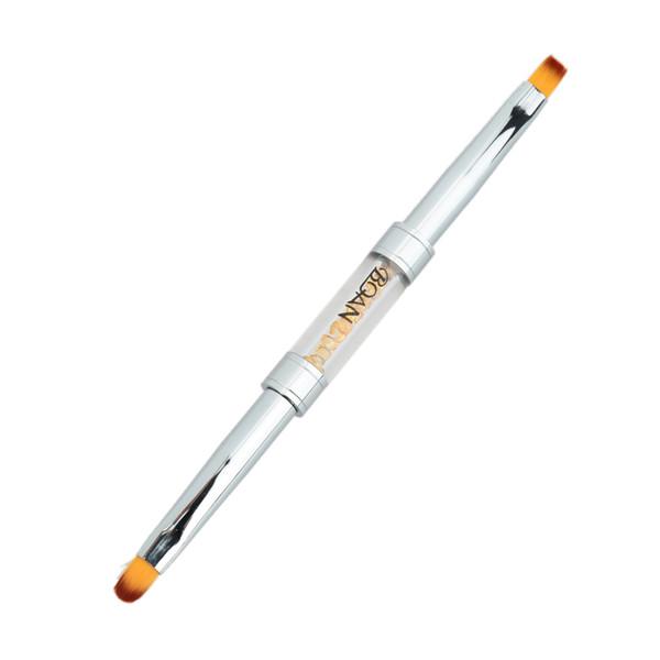 Rhinestone BQAN Nail Brushes Pen Acrylic Handle Nail Gel Brush/Dotting/Sculpturing/Liner Pens Dual Head Art Tools