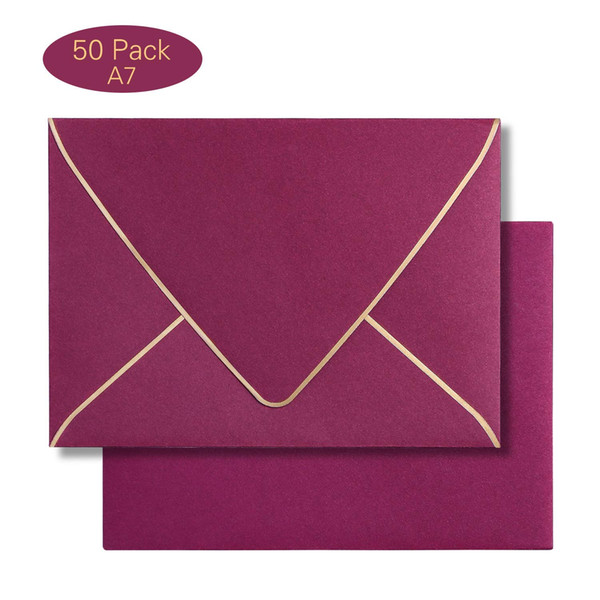 250gsm A7 Burgundy Envelopes 5 5 X 7 5 Inches With Adhesive Self Sealing Tape Perfect For 5 X7 Weddings Invitation Card Hydrangea Wedding