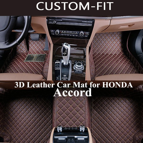 best selling Custom Car Floor Mats for HONDA ACCORD 2008 2010 2014 2016 2017 2018 Accessories Carpet Tapetes Para Automovil Tapete Carro Alfombra Coche