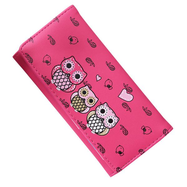 Fashion Women long wallet Simple Retro Owl Printing Long Wallet Coin Purse Card Holders Handbag clutch female cartera mujer