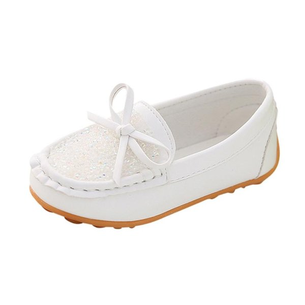 Baby Girls Casual Shoes 3Color Cute Diamond Bow Party PU Shoes Baby Casual Infant Rubber Soft Sole Anti-slip 18May30
