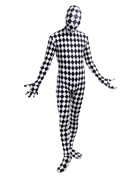 Halloween Costumes Catsuits cosplay Unisex Plaid Pattern Lycra Spandex zentai suits