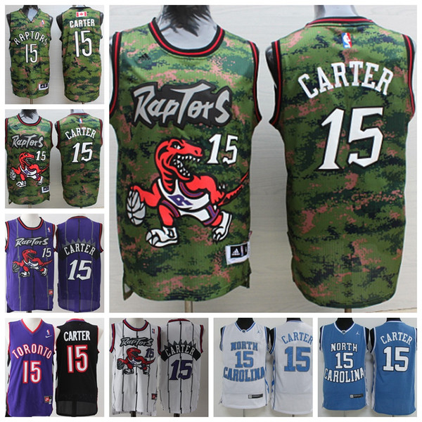new arrival 5d170 ee639 2018 Retro Mens 15 Vince Carter Toronto Raptors Basketball Jerseys Stitched  Hardwood Classic Mesh Vince Carter Retro North Carolina Jerseys From ...
