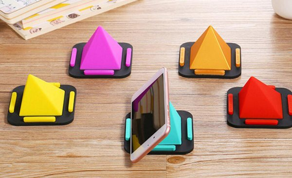 Universal Mobile Phone Holder Desk Mount Stand for iPhone,Samsung,Xiaomi Smart Phone Holder Non-slip Pyramid Holder 80pcs