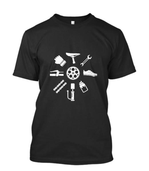 2018 Fashion New Bicycle Parts Structure Bikeer Men's Black T Shirt Size S - 2xl Men T Shirt Print Cotton Short Sleeve T Shirt