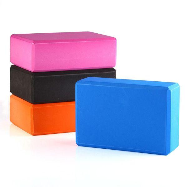 1PC Yoga Block Pilates Foam Schiuma Brick Stretch Salute Fitness Esercizio 23 CM Dimensioni 6 colori disponibili