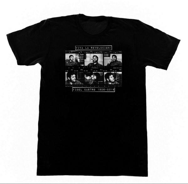 Fidel Castro Viva La Revolucion T-shirt Communist Soviet BLM Black Lives Print T Shirt Summer Style Hot