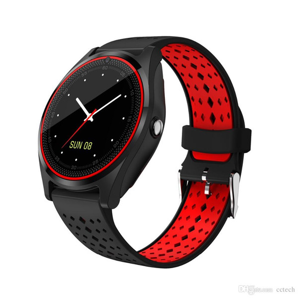 2018 Bluetooth Smart Watch V9 with Camera Smartwatch Pedometer Health Sport Clock Hours Men Women Smartwatch For Android IOS