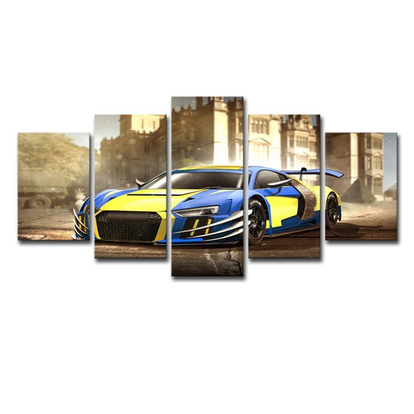 Modern Wall Art Canvas HD Printed Landscape Oil Painting Framed 5 Pieces Modular Posters Sports Car Pictures Home Decor