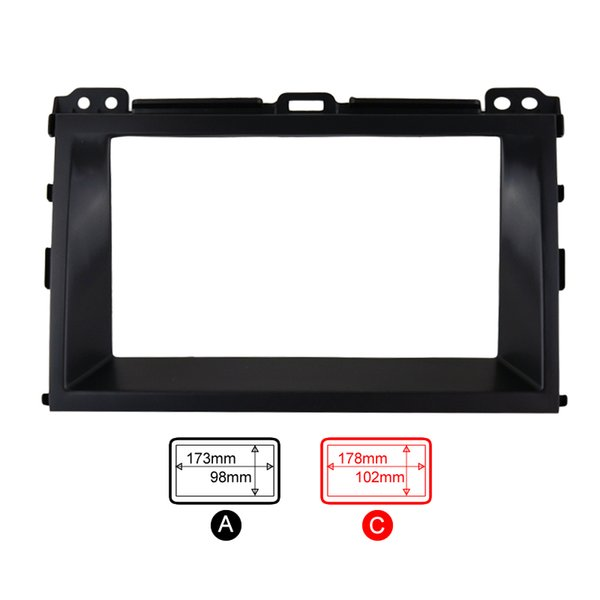 CHENYI Car Refitting Radio Stereo DVD Frame Fascia Dash Panel Installation Kits For Toyota Land Cruiser Prado(J120;2002-2009)