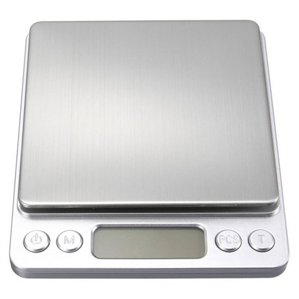 2000g/0.1g Digital Scale Kitchen Cooking Measure Tools Stainless Steel Electronic Weight LCD Electronic Bench Jewelry Scale