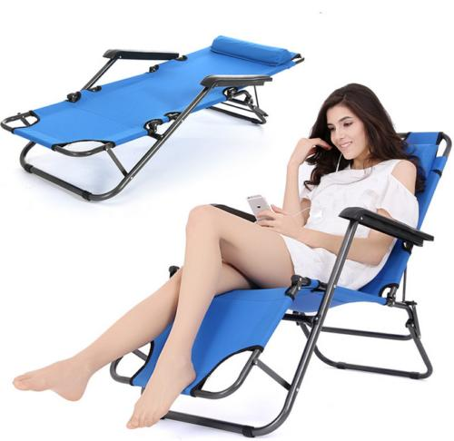 Zero Gravity Folding Recliner Patio Chaise Lounge Chair Outdoor Blue Reclining Chairs Pool Beach Portable Seat