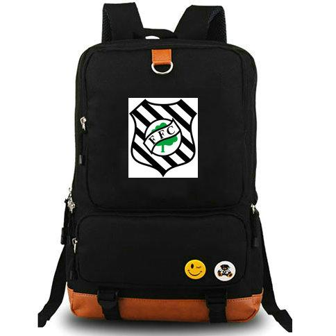 Figueirense FC backpack The fig tree Football club school bag Badge daypack Soccer schoolbag Outdoor rucksack Sport day pack