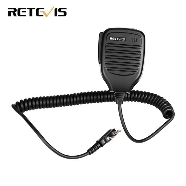 2 Pin PTT Speaker Microphone for Kenwood BAOFENG UV-5R BF-888S Retevis H777 RT3 RT80 TYT PUXING Ham Radio Walkie Talkie C9001A