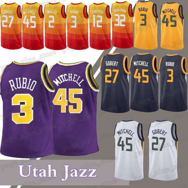 half off 0a44e b1011 2018 Utah Jazz Jerseys 45 Donovan Mitchell 3 Ricky Rubio 27 Rudy Gobert 2  Joe Ingles Jersey From Page_nine_store, $19.59 | DHgate.Com