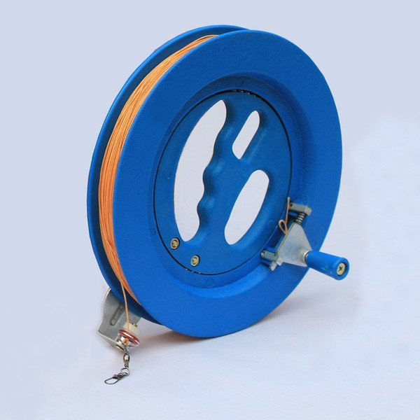 New Arrive High Quality 16cm ABS Blue For Big Flying Traction Tools Kite Handle Wheel And 100 M Line