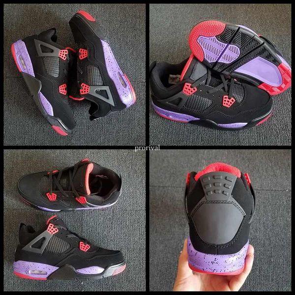 sports shoes d8872 7f7b4 2018 New Arrival 4 4s NRG Raptors Mens Basketball Shoes Men IV Black  University Red Court