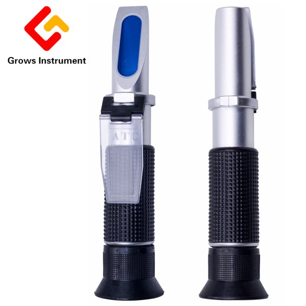 Copper Plating Soymilk Concentration Meter 0-25% Refractometer Brix For 0-32% Optical Sugar Beverages ATC Density Meter Handheld
