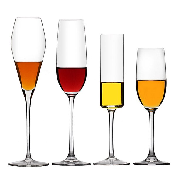 Transparent Crystal glass Cup Champagne Beer Wine Cup Lead-free goblet Glasses Bar Party Red Wine Glass Champagne Flutes