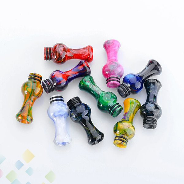 Vase Epoxy Resin 510 Drip Tip Long Vase Style Mouthpiece For TFV8 Baby 510 Atomizers Colorful Driptips E Cigarette DHL Free
