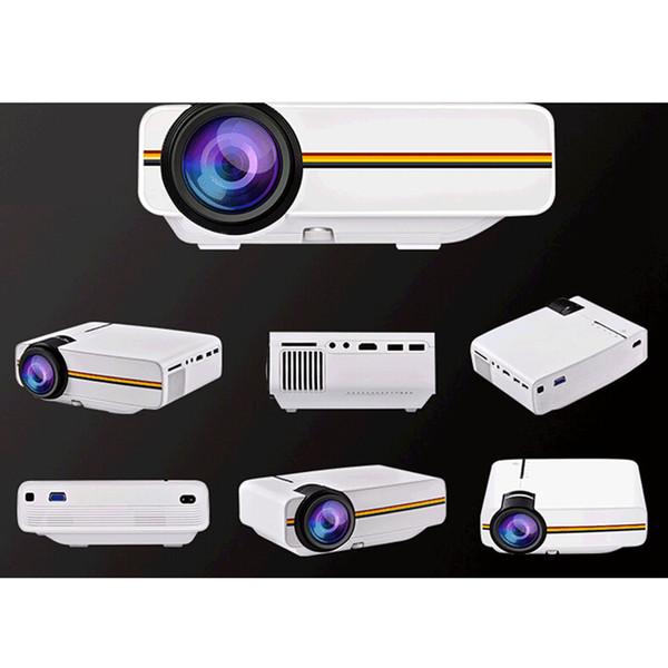 Venta caliente YG400 Multimedia portátil Mini LED Proyector 1000 Lúmenes home theater PC USB HDMI AV VGA SD para Home Cinema Proyector