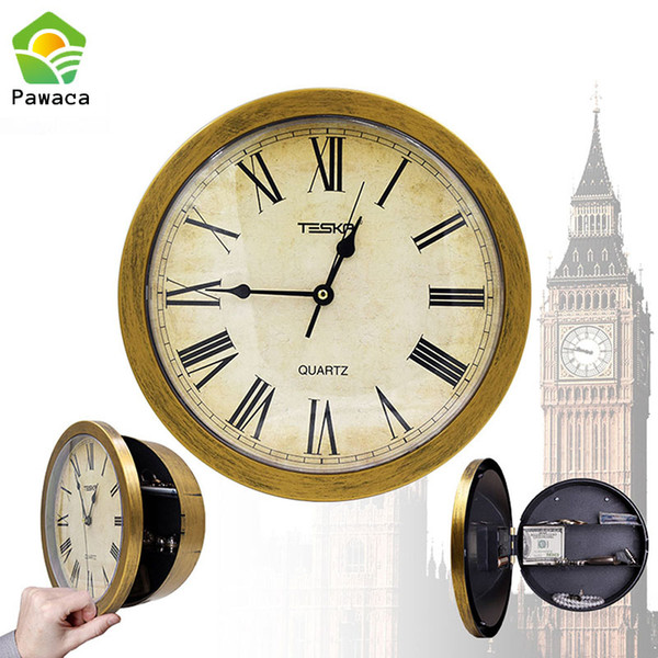 Creative Hidden Secret Safe Box Wall Clock Safe Box Wall-Mounted Hanging Key Cash Money Jewelry Storage Security Home Decor
