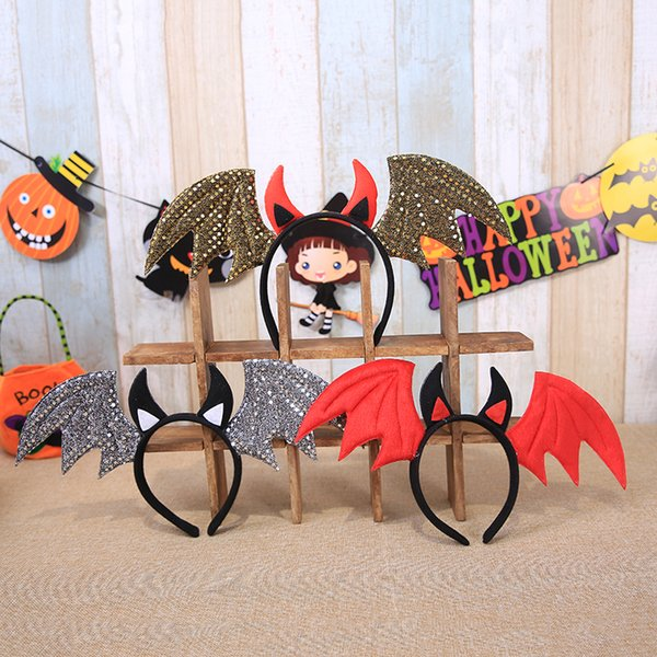 Halloween headband Wholesale masquerade party props decorative pumpkin vampire bat hair bands head buckle