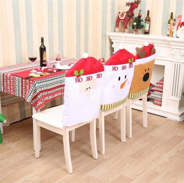 Marvelous High Quality Christmas Chairs Decoration Supplies Dining Table Home Party Colorful Chair Cover Dinner Covers T5I045 Christmas Holiday Decorating Machost Co Dining Chair Design Ideas Machostcouk