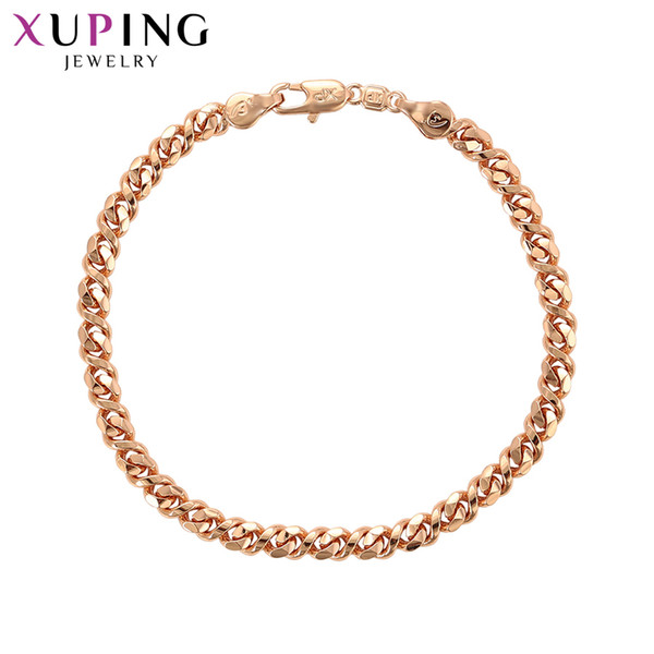11.11 Deals Xuping Fashion Jewelry High-Quality Fashion Rose Gold Color Plated Bracelet Women Special Design Gift S49,8-75930