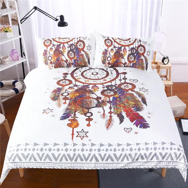 3D Bettwäschesätze Blume Bettwäsche Bettbezug Reactive Printed Fashion Plant 3pcs Polyester Twin Voll Königin King Size Großhandel