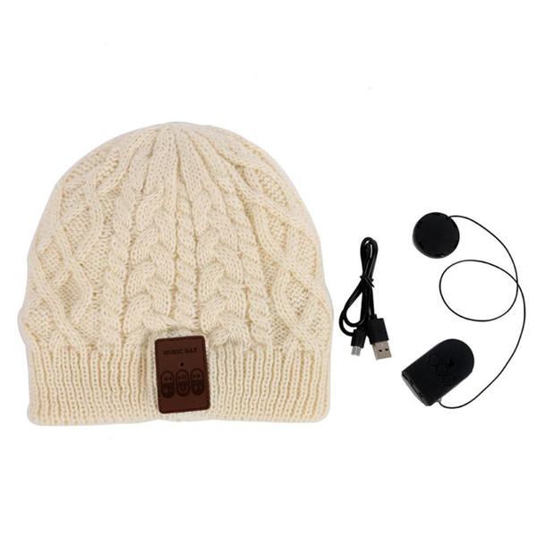 Unisex Soft Wireless Bluetooth Winter Warm Hat Cap Headphone Headset With Speaker Mic 2018 Hot Sale