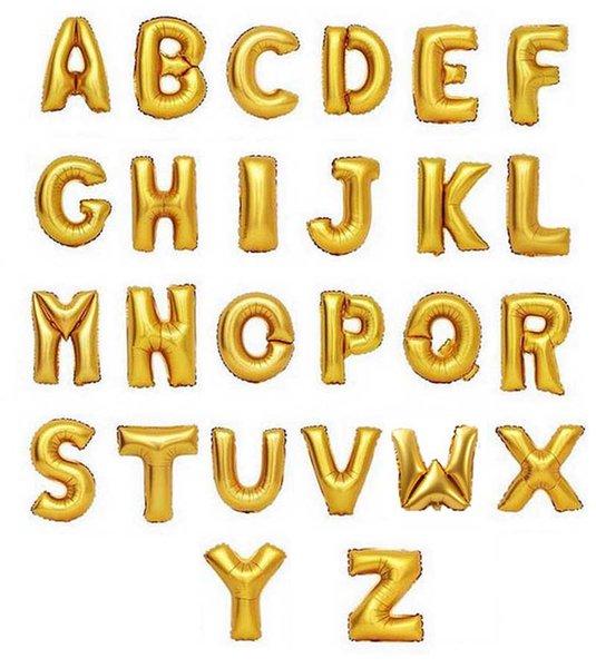 lettere d'oro dalla A alla Z