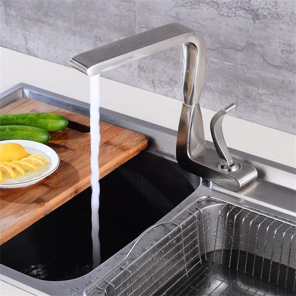 High Quality Kitchen Faucet Brushed And Black Plated Single handle sink faucet tap in the kitchen mixer torneira