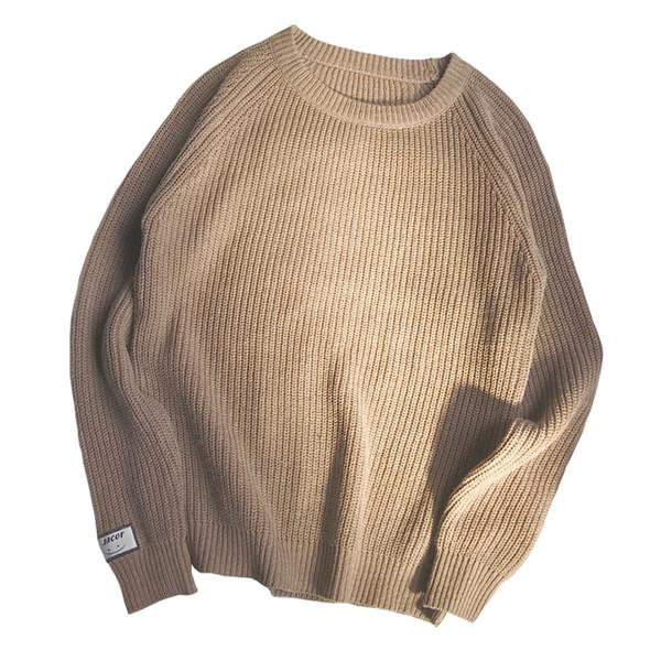 Rlyaeiz Brand New Korean Sweater Men 2018 Casual Pullover Men Autumn Winter O-Neck Retro Knitted Sweaters Male Sueter Hombre