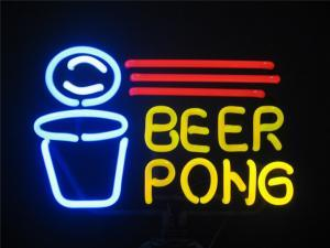 Pong 2018 Neon Beer Sign Bar Sign Real Glass Neon Light Beer Sign New Cocktails And Dreams Beer Neon 17x14 inches