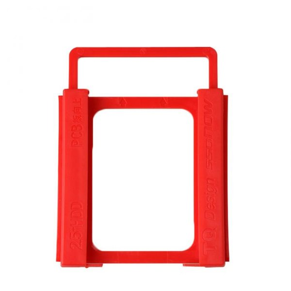 top popular 2.5-3.5 Inch Plastics Hard Disk Drive Mounting Bracket Adapter For Notebook PC SSD Holder QJY99 2019