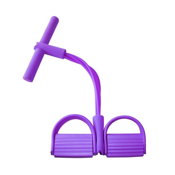 Fitness Rally tube Rope Pedal puller Tire Resistance bands Leg-Slim Foot Rally Pull Rope Maniglie antiscivolo