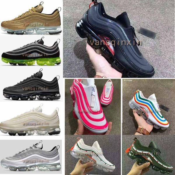 new concept bb56f 334c0 New 97 Vapormax 97 Hybrid Black Reflect Silver Bullet Japan OG Running  Shoes For Men Women 2018 Gold Black Vapormaxes Sports Shoes Size36 46  Sports ...
