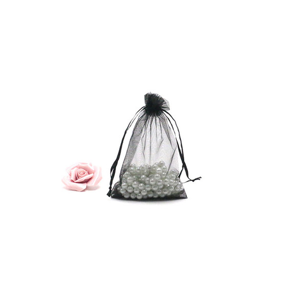 100pcs/lot Drawable Organza Bag Drawstring Pouch Wedding Birthday Christmas Party Gift Jewelry Packaging Display Bags 11x16cm Storage Bags