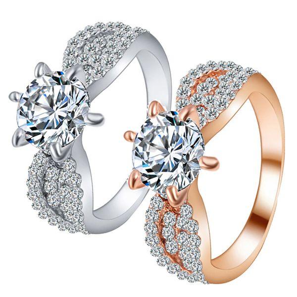 Stylish and beautiful add temperamentZircon Rings Female Fashion Alloy Ring Ring Jewels Wedding