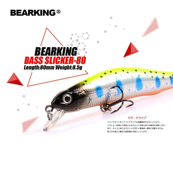 Retail A+ fishing lures, assorted colors, minnow 80mm 8.5g,magnet system. bearking 2018 hot model bait