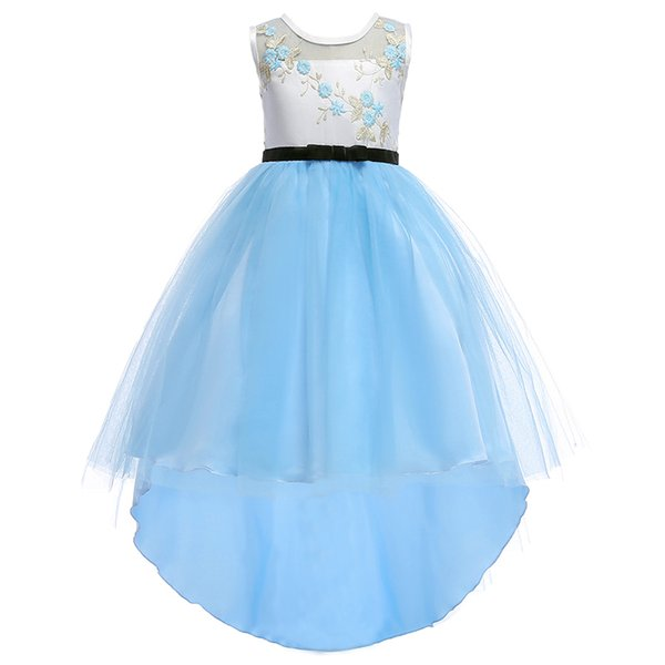 The new children's sleeveless dress with a strapless gown The flower girl party Dovetail skirt Princess dress good workmanship best price