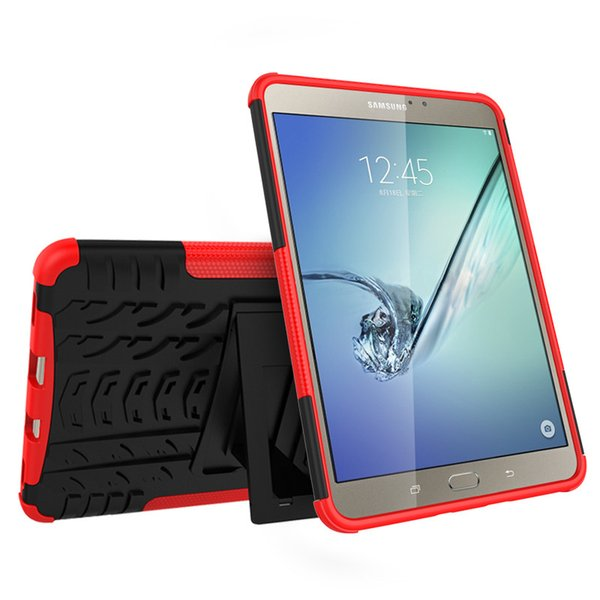 Heavy Duty Armor Hybrid TPU&PC Hard Cover Case for Samsung GALAXY Tab S2 8.0'' T710 T715 Tablet PC Kickstand Cover Case