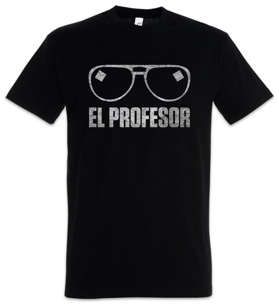 El Profesor Camiseta Máscara de Dinero La Casa Heist de Papel Dali Tokio Glasses 2018 camiseta de moda 100% camiseta de algodón