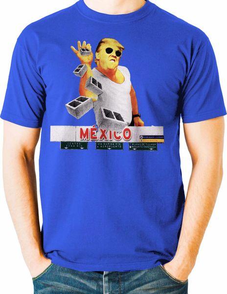 Funny President Trump T Shirt Salt Bae Build the Wall Mexico Big Tall