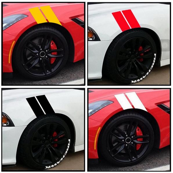 2019 New Car Fender Leaf Plate Reflective Stickers Waterproof Auto Wheel Plate Stickers Car Body Decoration 10 Sets