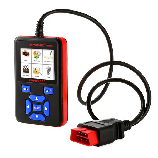 Varredores de código de OM580 OBD2 verificam ferramenta de varredura diagnóstica automotivo do leitor de código do carro do varredor do motor