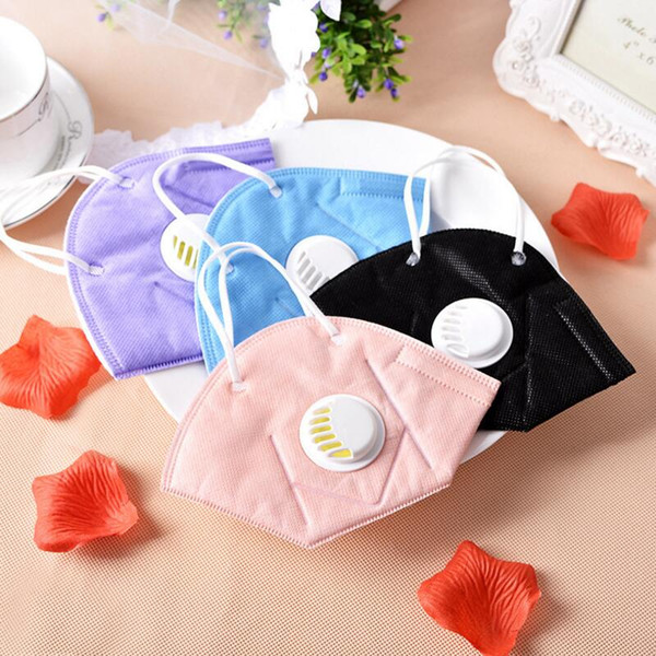 500pcs Men Women PM2.5 mouth mask Breath valve Anti Haze disposable Mask anti dust Mouth-muffle respirator Flu Face masks for face